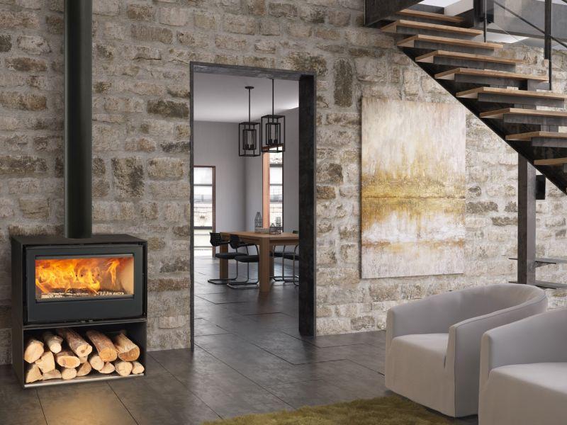 atry home chemin es et po les 06 po le bois avec ventilation un chauffage d insert de. Black Bedroom Furniture Sets. Home Design Ideas