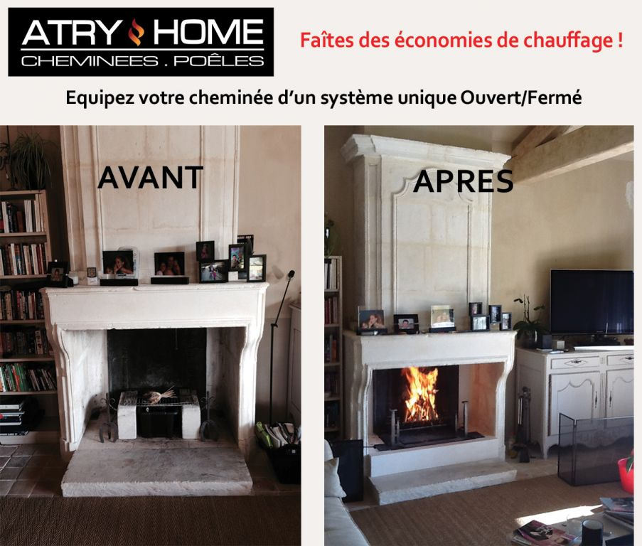 atry home chemin es et po les 06 la distribution de chaleur avec polyflam chemin e et po le. Black Bedroom Furniture Sets. Home Design Ideas