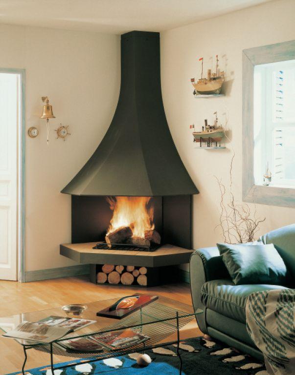atry home chemin es et po les 06 les meilleurs mod les de chemin e pour installer dans un angle. Black Bedroom Furniture Sets. Home Design Ideas